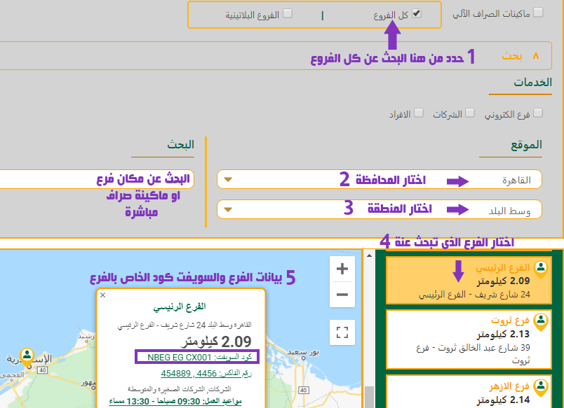 كيف تعرف السويفت كود من موقع البنك الاهلى المصرى