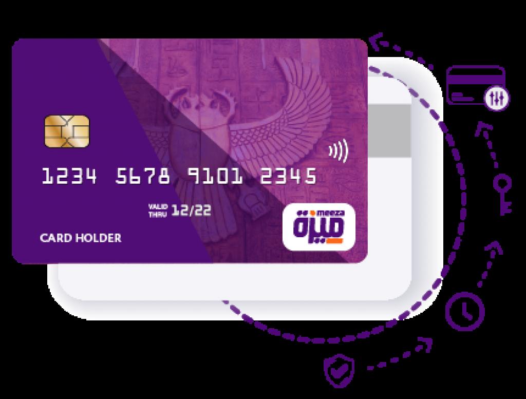 بطاقات ميزة المدفوعة مقدما وبطاقات الخصم المباشر meeza-card