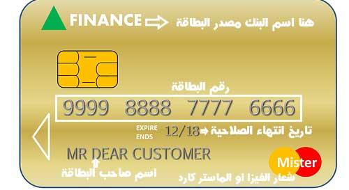 ما هو رقم البطاقة البنكية وبيانات الفيزا والماستر كارد