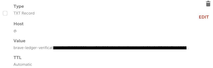 اثبات ملكية الموقع الالكترونى من خلال DNS للربح من متصفح brave برنامج الناشرين3