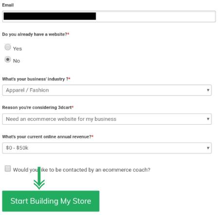 ابدأ في بناء متجري (Start Building My Store